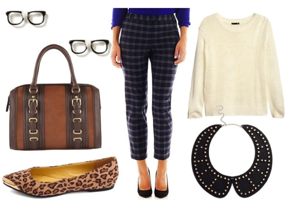 How to style cropped plaid pants for day