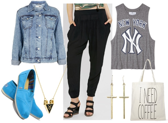 How to style slouchy black pants for day