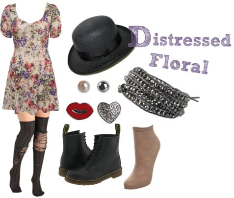 How to wear 90s distressed florals