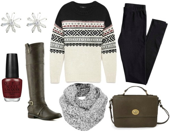 How to wear a fair isle sweater for day