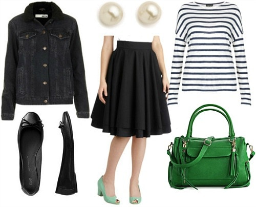 How to wear a full circle skirt for day