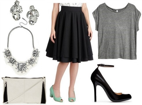 How to wear a full circle skirt for night