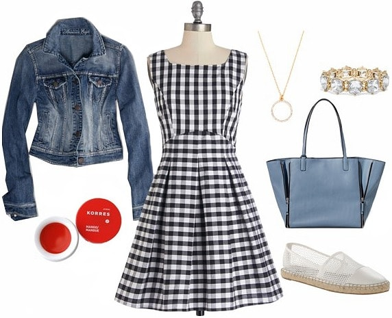 How to wear a gingham dress daytime