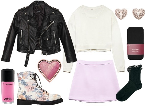 How to wear a pastel skirt for class