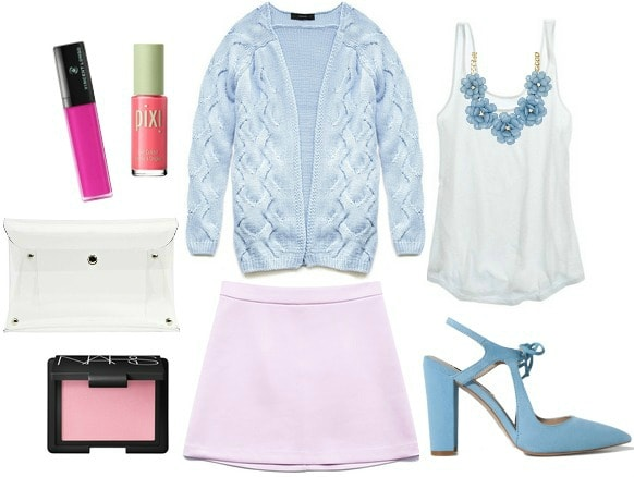How to wear a pastel skirt for night out