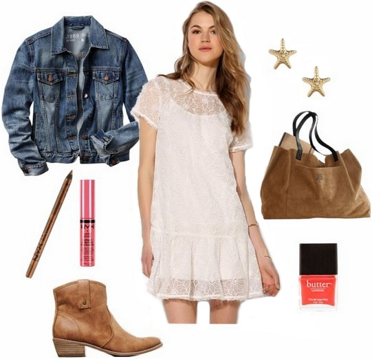 How to wear a sheer dress to class