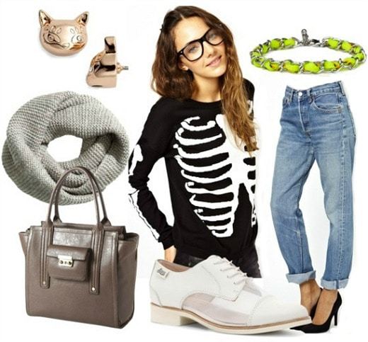How to wear a skeleton top for day