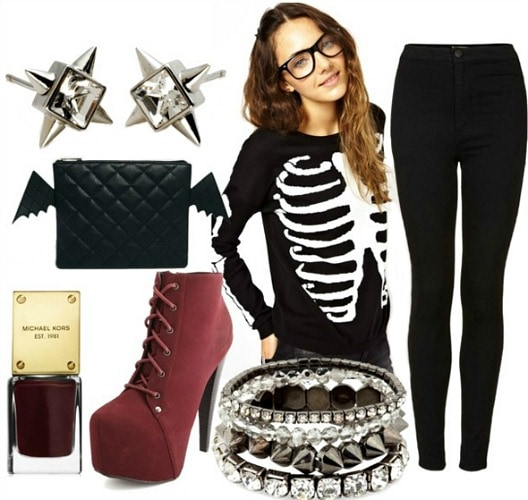 How to wear a skeleton top for night