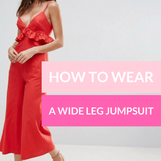 How to wear a wide leg jumpsuit