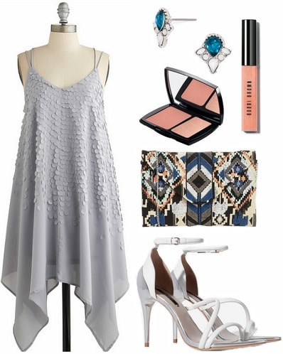How to wear an asymmetric hem dress for a night out