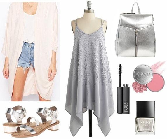 How to wear an asymmetric hem dress to class