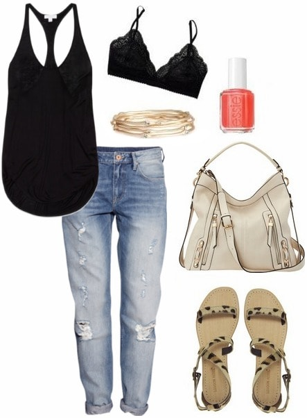 How to wear boyfriend jeans to class