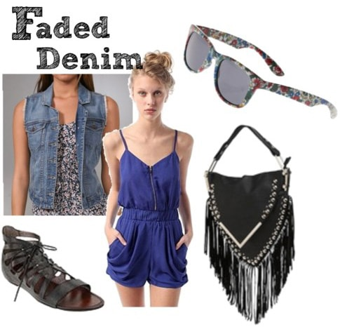 How to wear faded denim