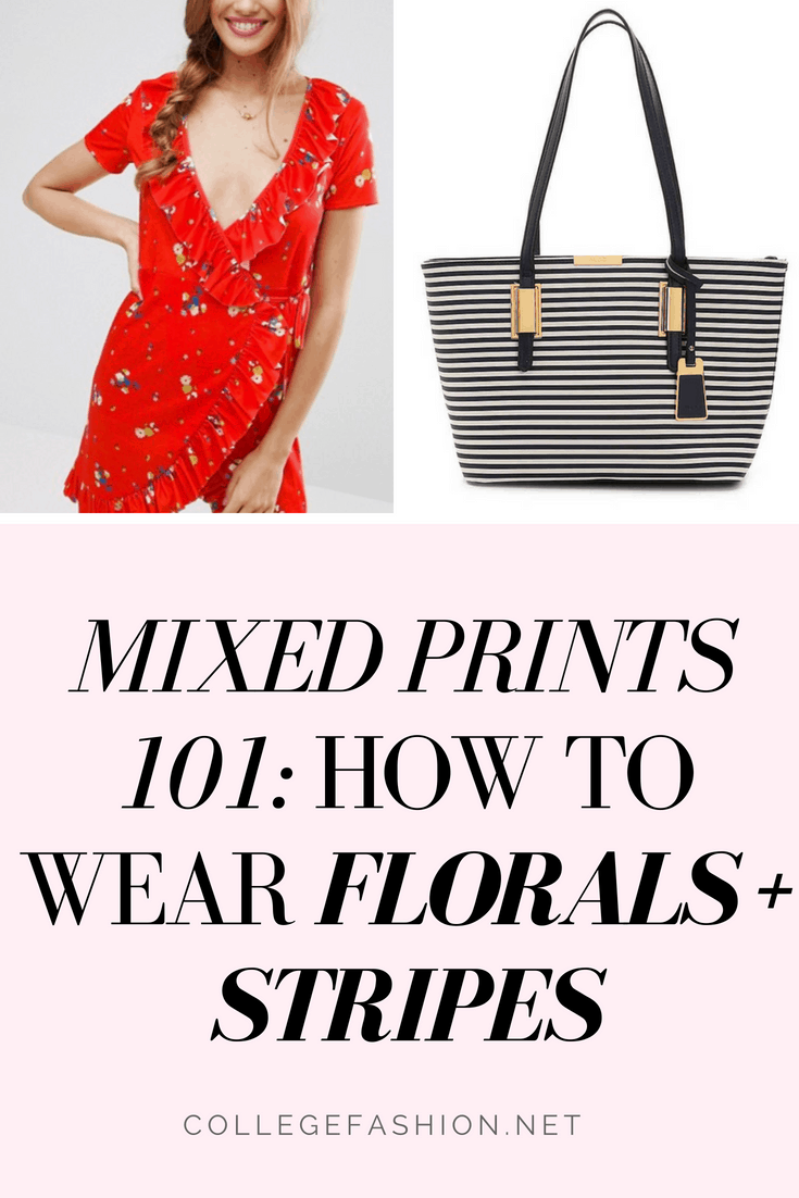 How to Wear florals and stripes together - mixed prints 101