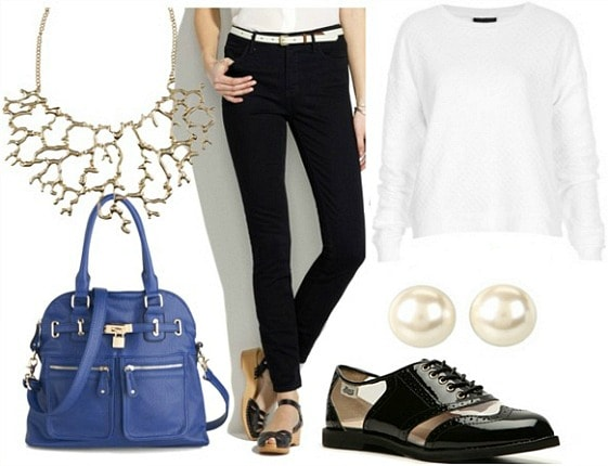 How to wear high waisted black ankle jeans for day