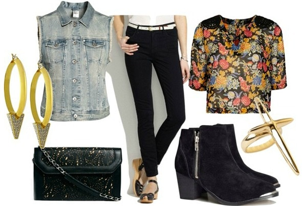 How to wear high waisted black ankle jeans for night