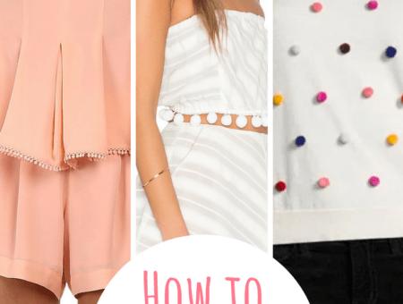 How to wear the pom pom fashion trend