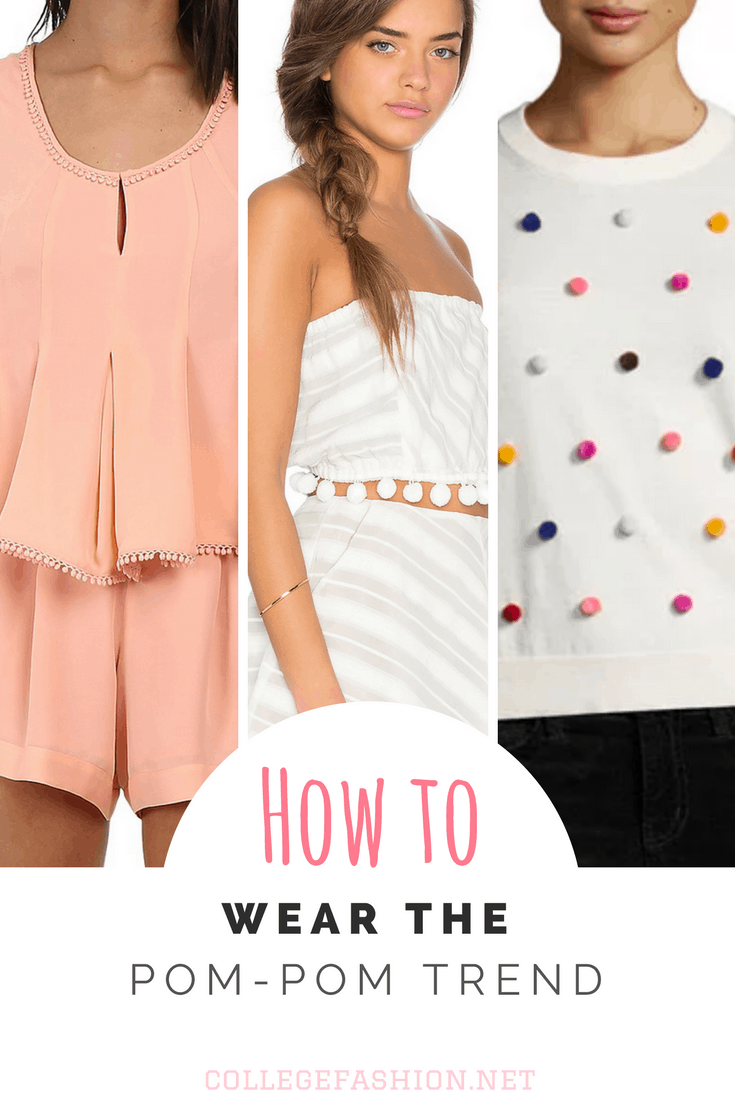 How to wear the pom pom fashion trend