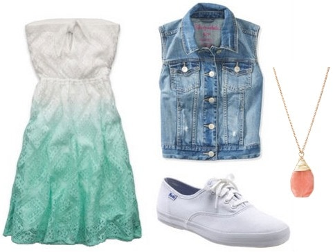 How to wear white Keds