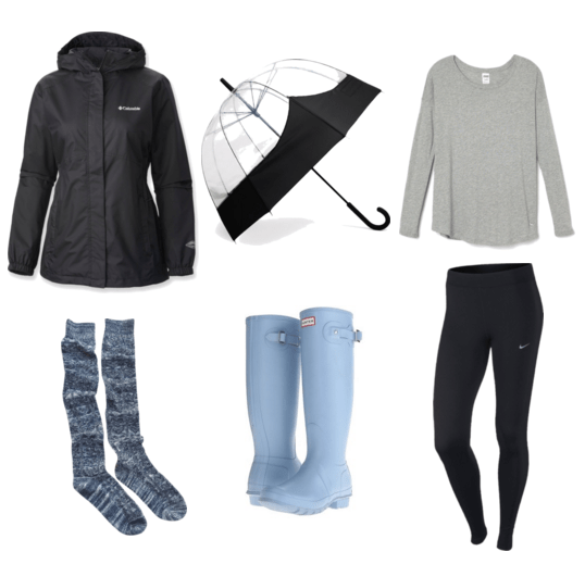 Hunter Boot Rainy Day Outfit