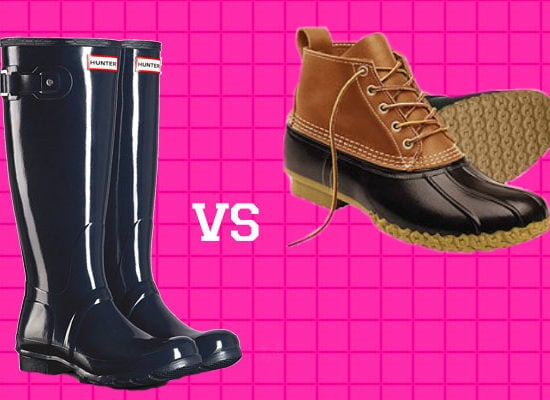 Hunter boots vs bean boots