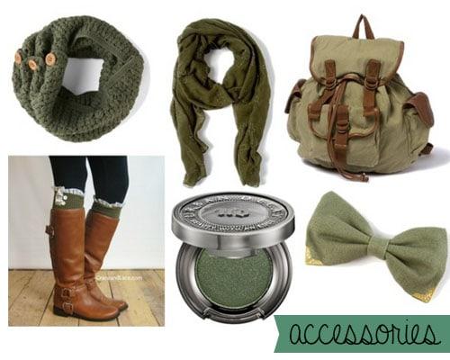 Hunter green accessories