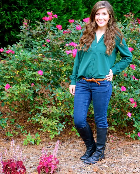 Hunter green kate middleton inspired outfit