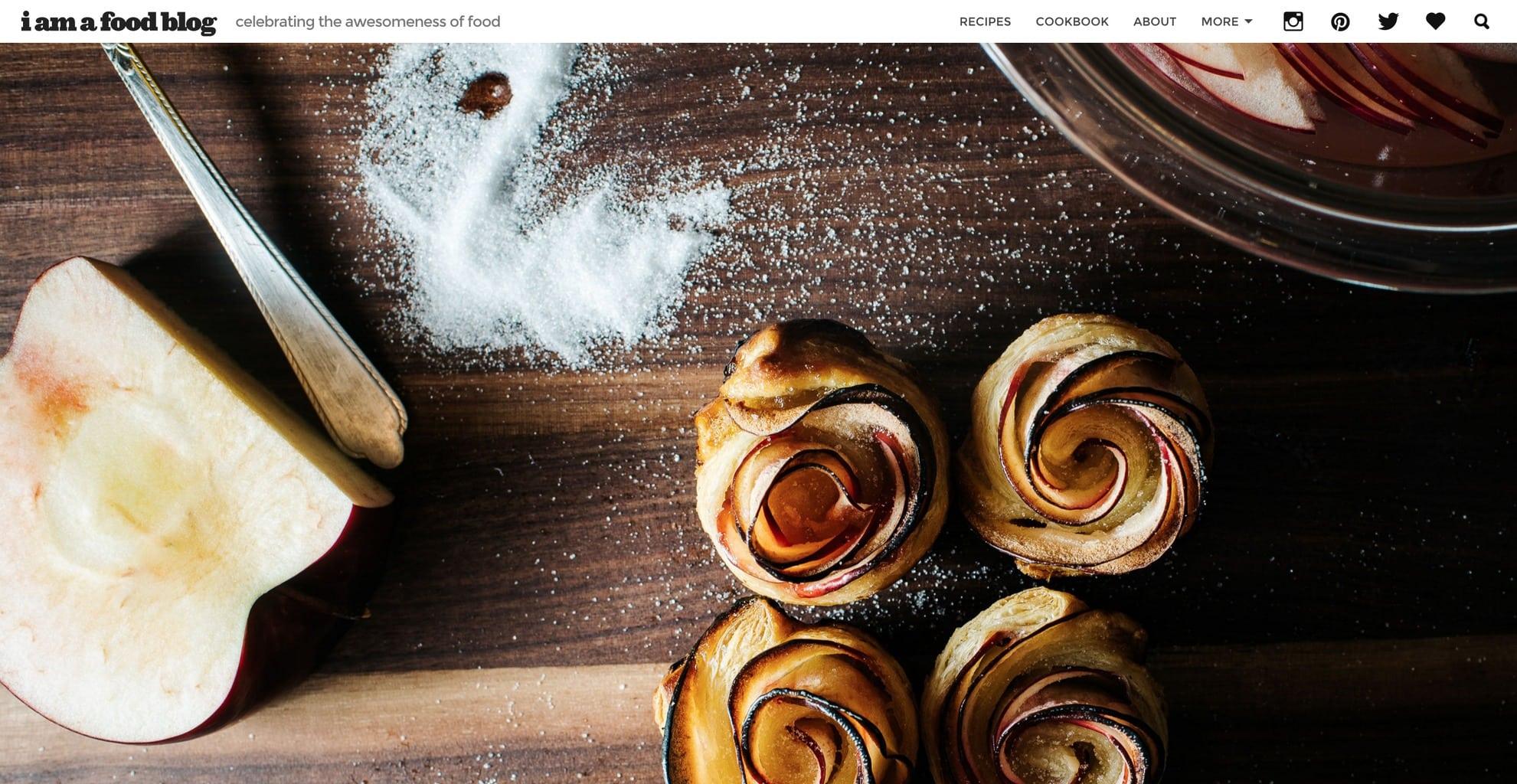 I Am a Food Blog screenshot