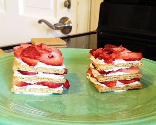 Ice box cake stacking