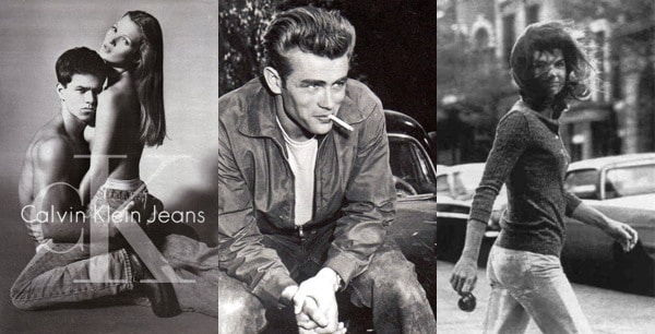 Iconic denim worn by Kate Moss, Mark Wahlberg, James Dean, and Jackie O