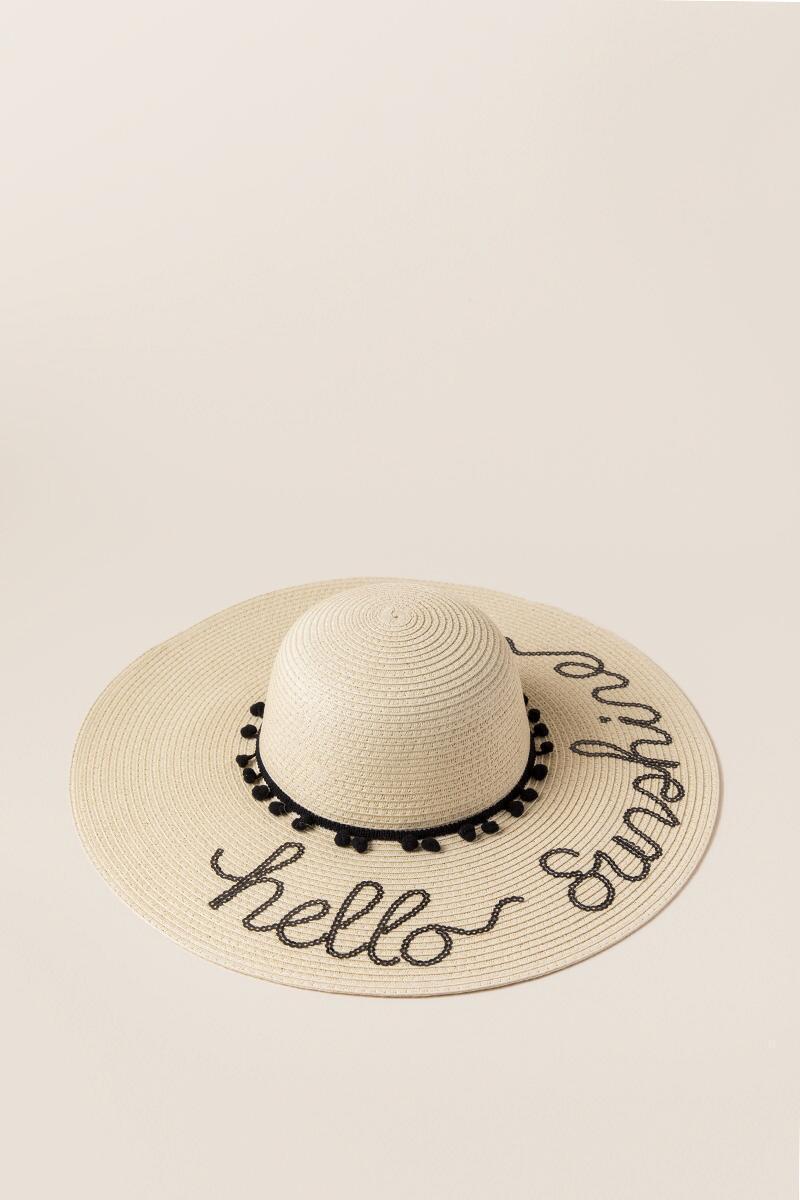 Hello Sunshine woven sun hat