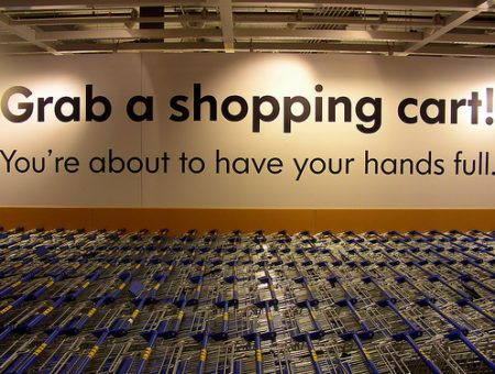 Ikea shopping cart sign