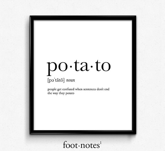 Potato wall print