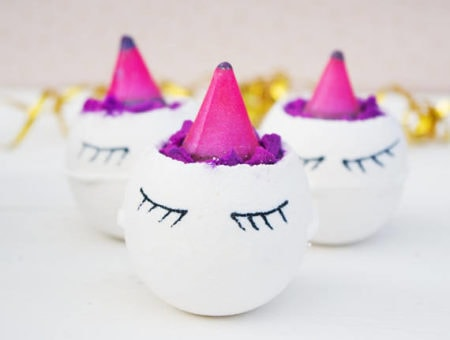 Unicorn bath bomb from Etsy