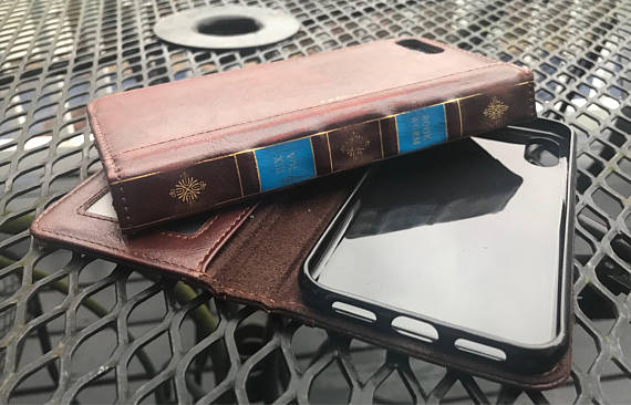 Leather bound book iPhone case