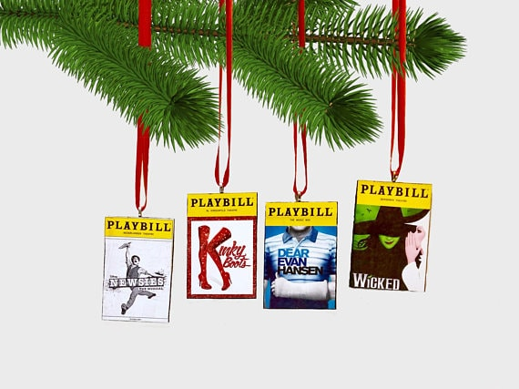 Playbill ornament from Etsy