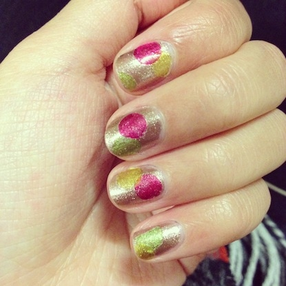 DIY nail decal mani