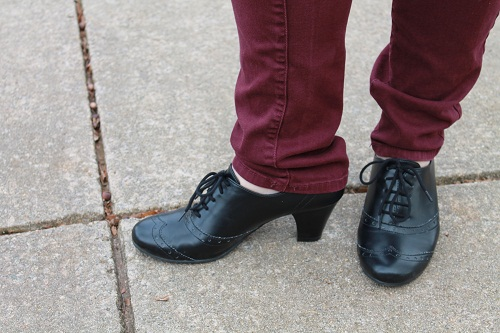 College campus fashion trend - heeled oxfords