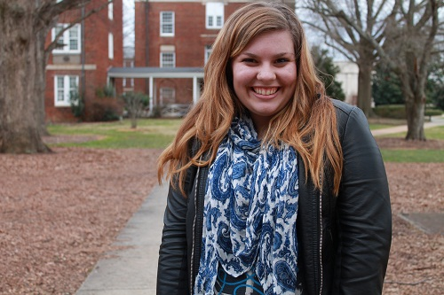 College campus fashion trend - printed scarf