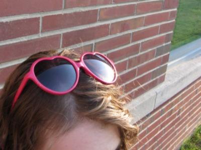 College street style at Ball State University - lolita sunglasses