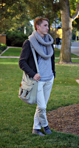 College guy's street style at BYU