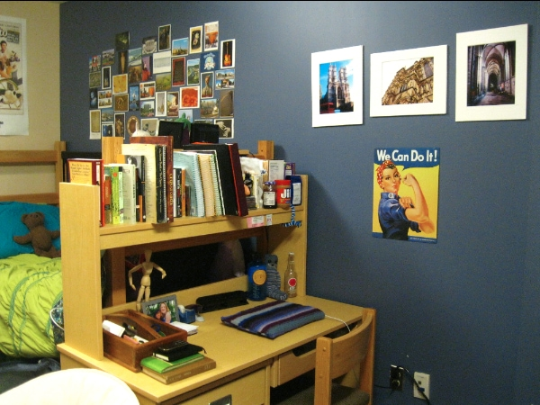 Emily's dorm room at Oberlin College