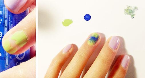 Impressionist nail art step 1