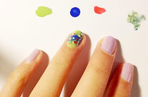Impressionist nail art step 2