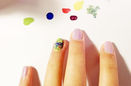 Impressionist nail art step 3