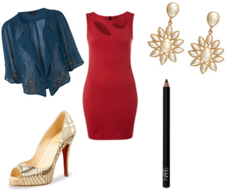 Fashionable outfit inspired by Marion Cotillard's dress at the Inception premiere