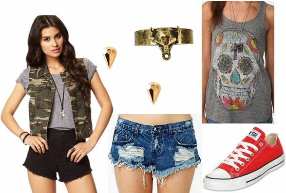 Indie rock inspired outfit