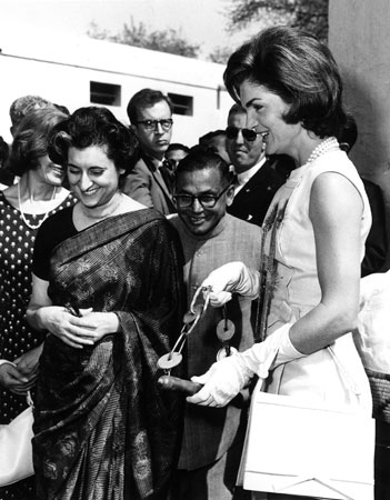 Indira Gandhi and Jackie O