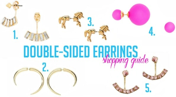 Inexpensive double sided earrings