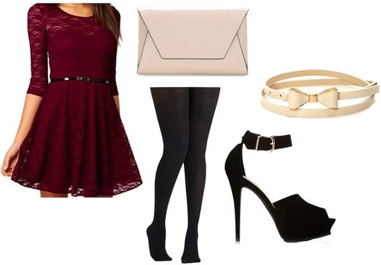 Inexpensive holiday party outfit